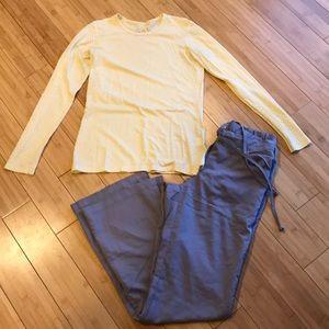 Other - Grey's Anatomy Gray Scrub Bottom, Koi Long Sleeve